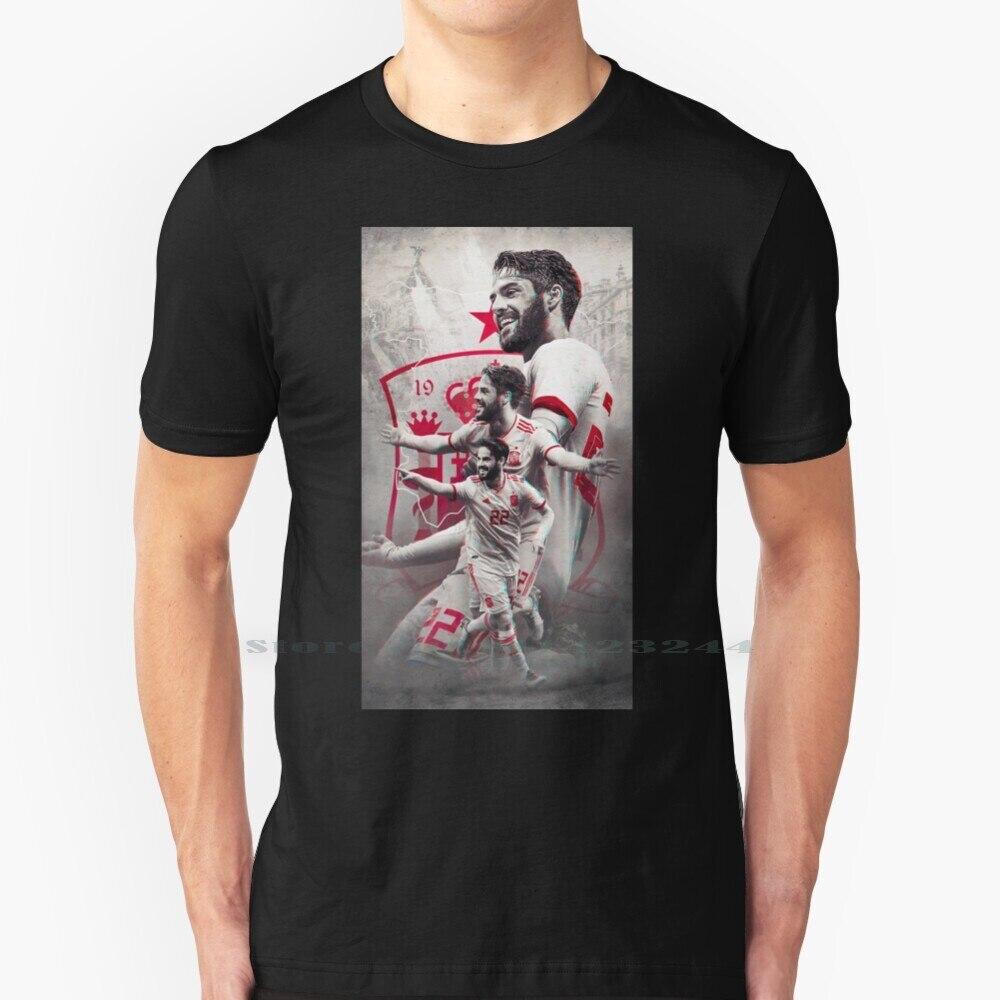 Isco Art-Camiseta de algodón puro para 100%, papel tapiz de Isco Art