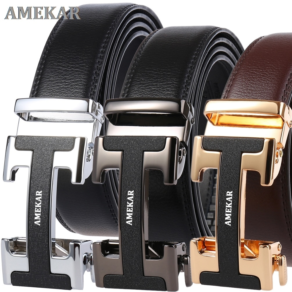 Man Fashion Luxury Brand For Men High Quality Automatic Buckle Male Belt New Designer s Belts