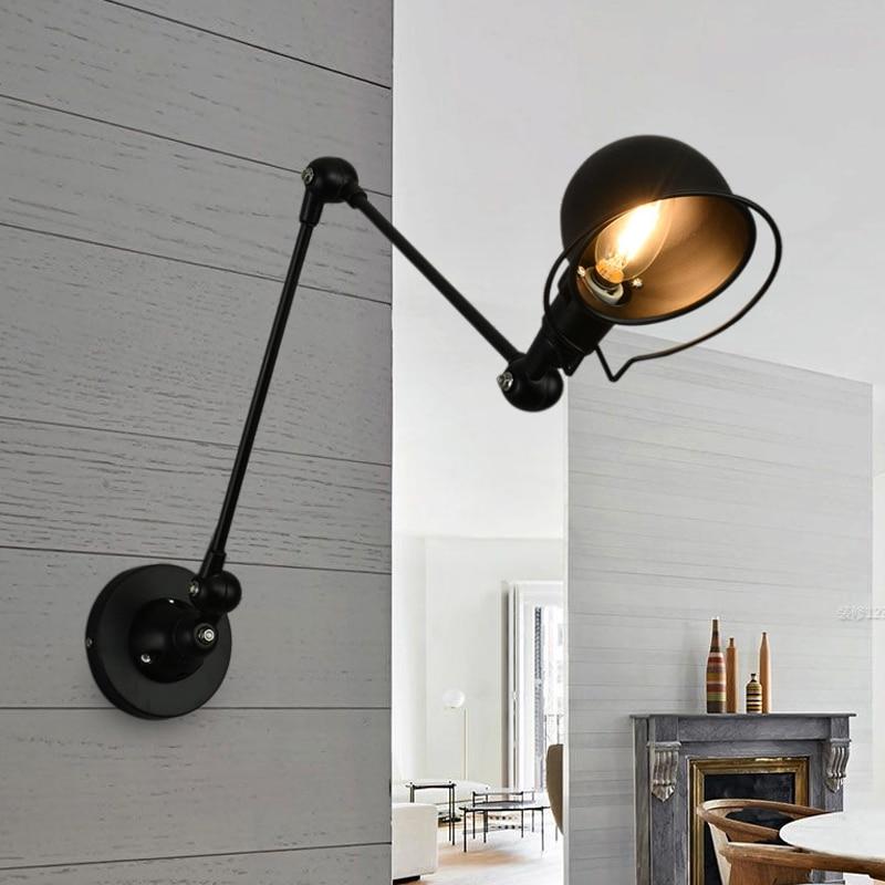مصباح حائط LED عتيق ، مصباح حائط ريترو قابل للتعديل E14 للدور العلوي ، تركيبات إضاءة منزلية ، مصباح بجانب السرير لغرفة النوم