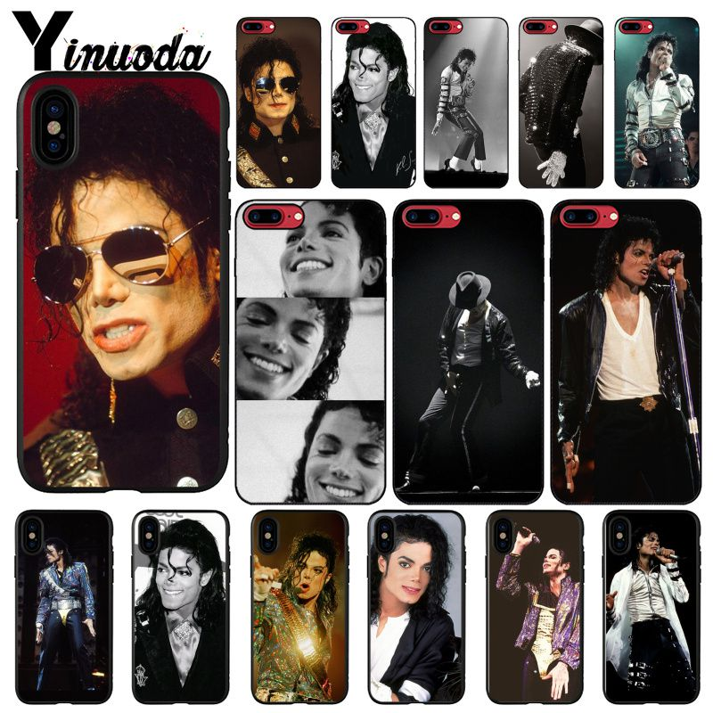 Yinuoda Michael Jackson Singer Novelty Fundas Phone Case Cover for iPhone 8 7 6 6S Plus 5 5S SE XR X XS MAX Coque Shell