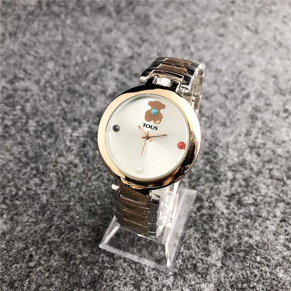 TOUSES pulsera reloj mujer cuarzo Casual reloj relojes pulsera reloj señoras cuarzo reloj de cuero de moda TOUSES joyas a1