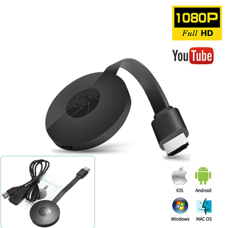 G2 TV Stick 1080P WiFi Full HD HDMI-Compatible Display Dongle Receiver Mirror Screen Wireless Miracast For IOS Android