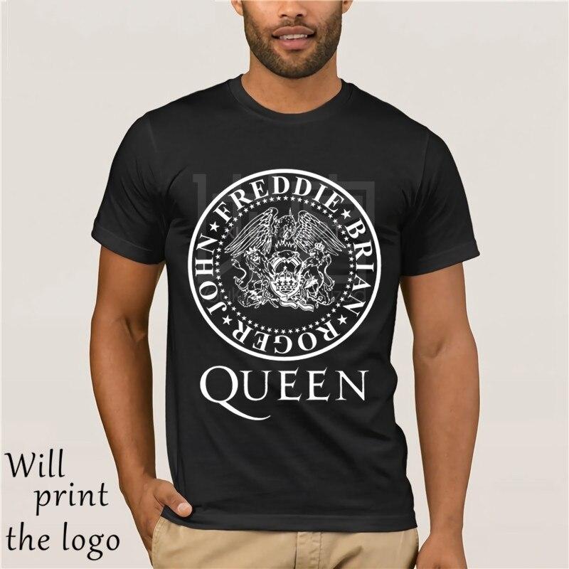 Camiseta de la Reina Freddie camiseta de mercurio Rock Music Vintage UK Unisex Logo Top Tour hombres marca impresa Camiseta 100% algodón