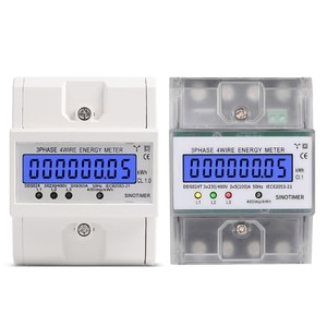 3 Phase 4 Wire Electronic Power Consumption Energy Meter Backlight Display 667A