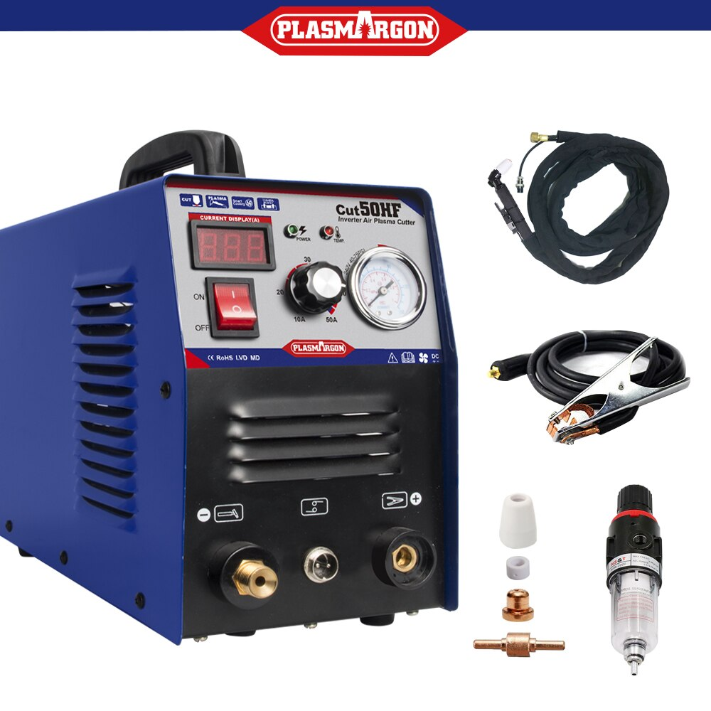 Plasma Cutting Machine Inverter 220v Air Plasma Cutter IGBT PT31 Plasma Torch Consumables Plasma CUT50 HF 50Amps Hand Plasma