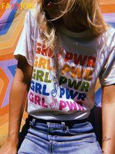 2020 feministyczny letni Top T Shirt feminizm T-shirt z nadrukiem kobiet kobieta siła dziewczyn Kawaii feminizm graficzny Tee kobiet T-shirt