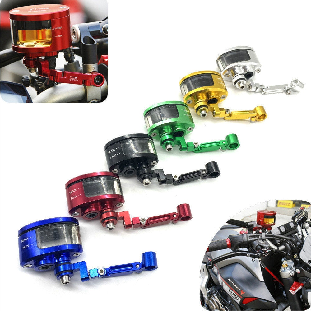 Universal Motorcycle Motorbike Brake Clutch Tank Cylinder Fluid Oil Reservoir Cup For Honda Yamaha Suzuki Kawasaki