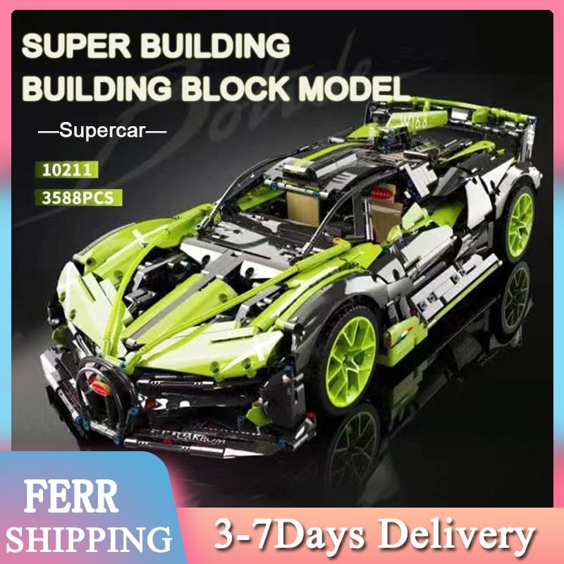 2021 MOC RC Car 3588 قطعة اللبنات التقنية لامبورجينيس سيان التكنولوجيا الفائقة سلسلة الطوب نموذج عيد ميلاد لصديقك الاطفال