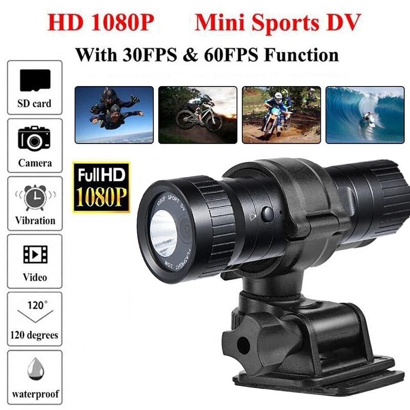 F9-كاميرا فيديو صغيرة 1080P لخوذة الدراجة النارية ، جهاز مقاوم للماء للرياضات الخارجية ، فيديو DV 120 درجة ، إصدار مطور