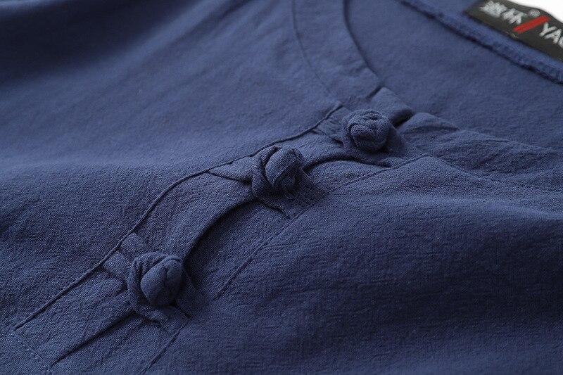 plus size Summer T-shirt Men Short Sleeve 8XL 9XL 68 70 cotton linen tees Chinese style Tang suit oversize vintage tshirt khaki