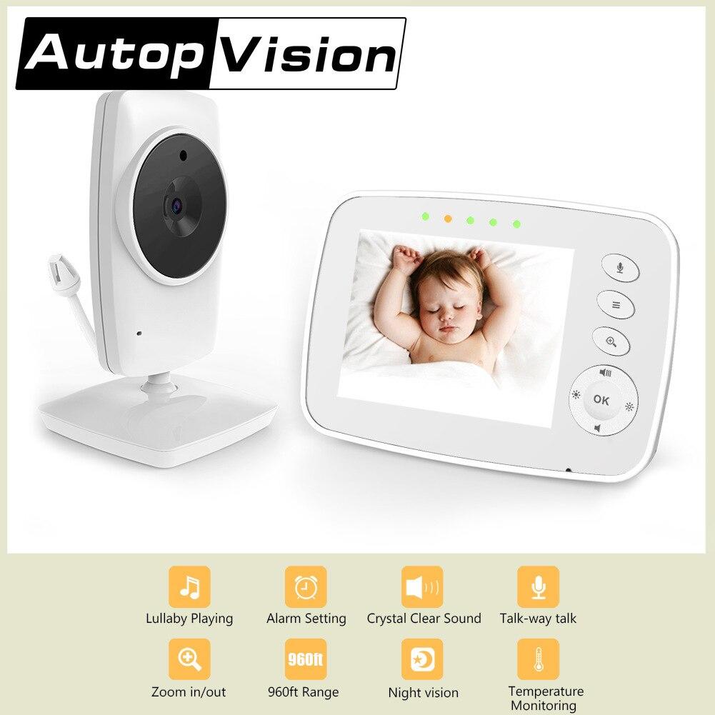 3,2 pulgadas Digital Video Audio inalámbrico bebé Monitor niñera Babysister visión nocturna...