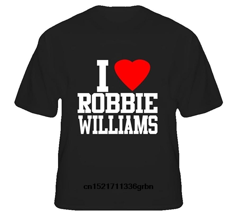 Camiseta para hombre I Love Robby Robin Williams s, camiseta divertida, camiseta novedosa para mujer