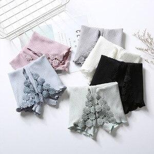 Новая нить день линия водорастворимые сторона цветок безопасности брюки талии, чтобы предотвратить светильник женские нижние брюки