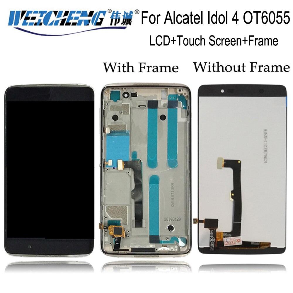 Para Alcatel Idol 4 OT6055 OT 6055 6055B 6055H 6055y pantalla LCD y conjunto de pantalla de sensor táctil