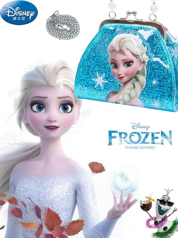 Disney congelé Elsa enfants Pu sac de messager filles sac à bandoulière sac à main pour enfants mode sac cosmétique cadeau danniversaire de noël