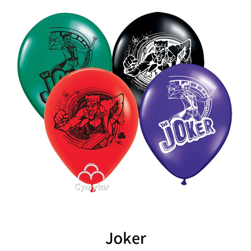 12 pçs/lote Joker Batman The Joker Balão De Látex Balão Decorações Da Festa de Aniversário Brinquedos Para As Crianças Globos