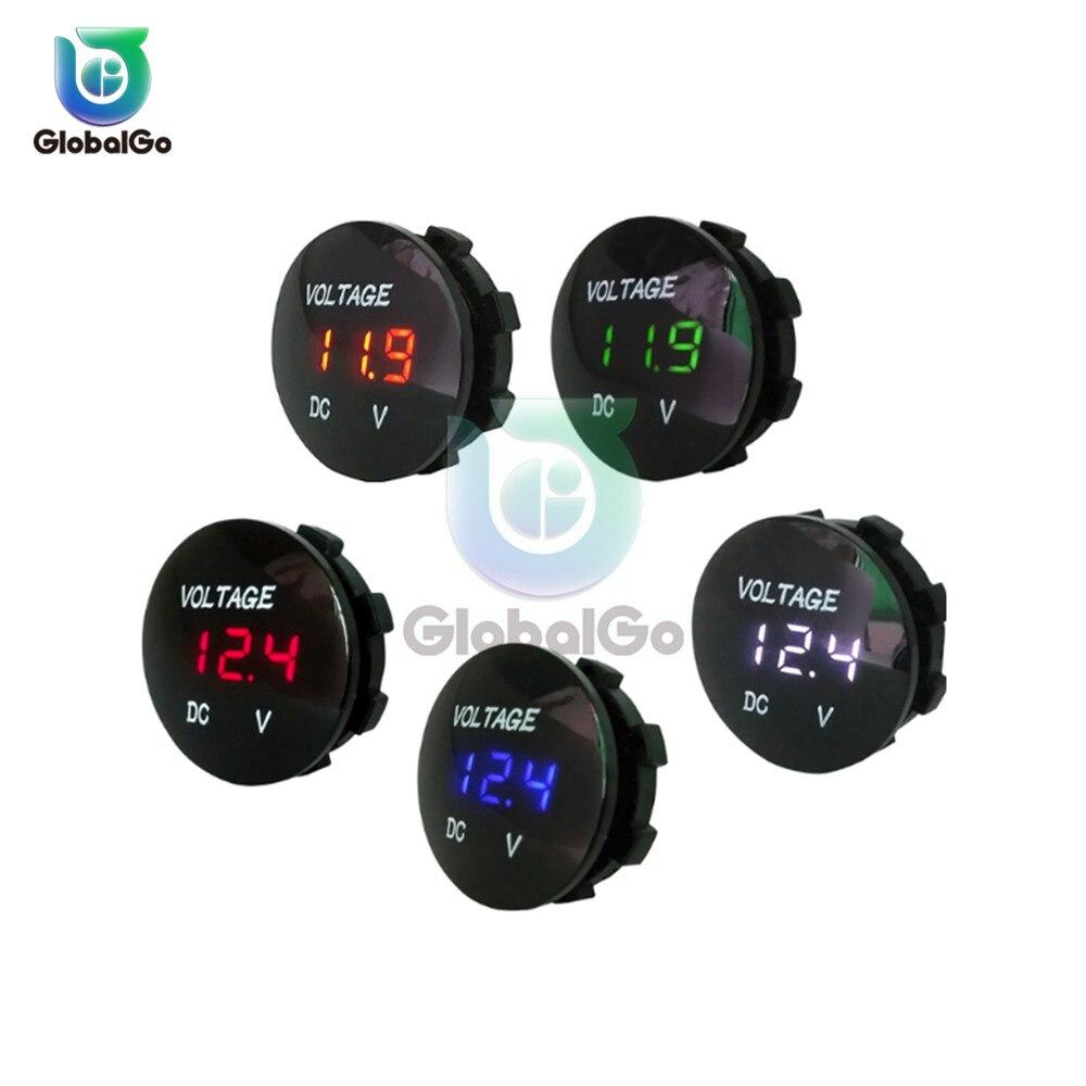 Dc 5-48 v led digital voltímetro medidor de tensão volt monitor painel testador para bateria automóvel carro motocicleta voltímetro à prova dwaterproof água