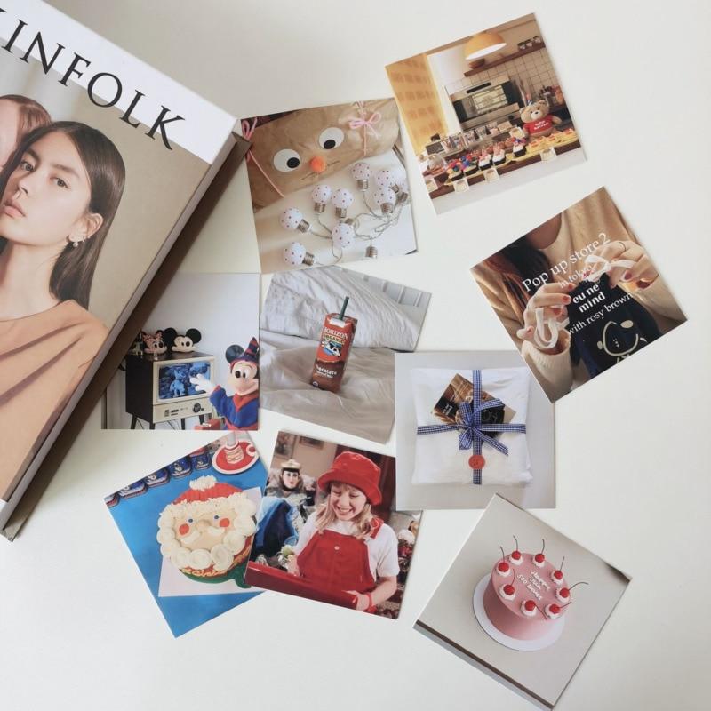 В Корейском стиле, с мультяшными героями, милый плакат декоративная карта 9 листов реквизит для фотографий на день рождения поздравительных...