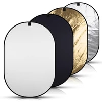 4in 1 collapsible oval reflector 150200cm chromakey black whiteblue green screen background panel board photo studio accessory