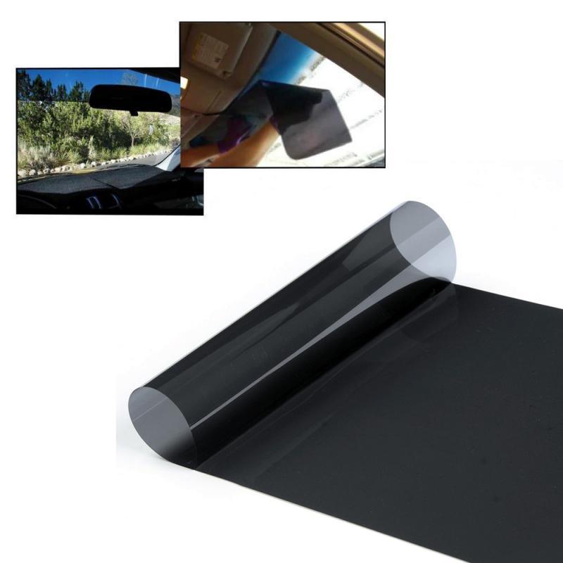 Черная 20 см X 150 см Автомобильная оконная Солнечная Защитная пленка ветровое стекло Солнцезащитная пленка Авто Наклейка на окно автомобиля 99% защита от УФ-лучей