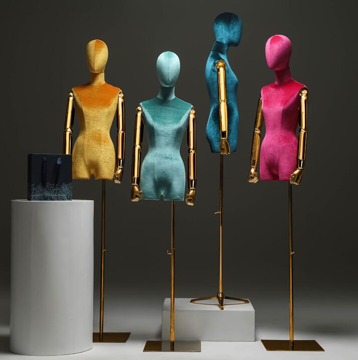 Brazo de 4 colores maniquí de ventana soporte del cuerpo vestido femenino forma maniquí, joyería mujeres flexibles, rack ajustable, muñeca C840