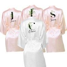 Traje de satén de salto de cama nupcial personalizado para novia y dama de Honor vestidos personalizados de 10 colores para regalos de la tribu de la novia