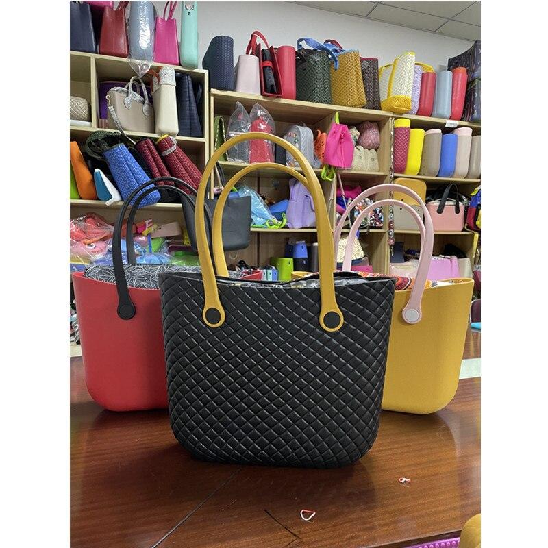 1 قطعة سيليكون حقيبة يد حقيبة شاطئية bolsas السيدات التسوق الهند حقيبة سيليكون 2021