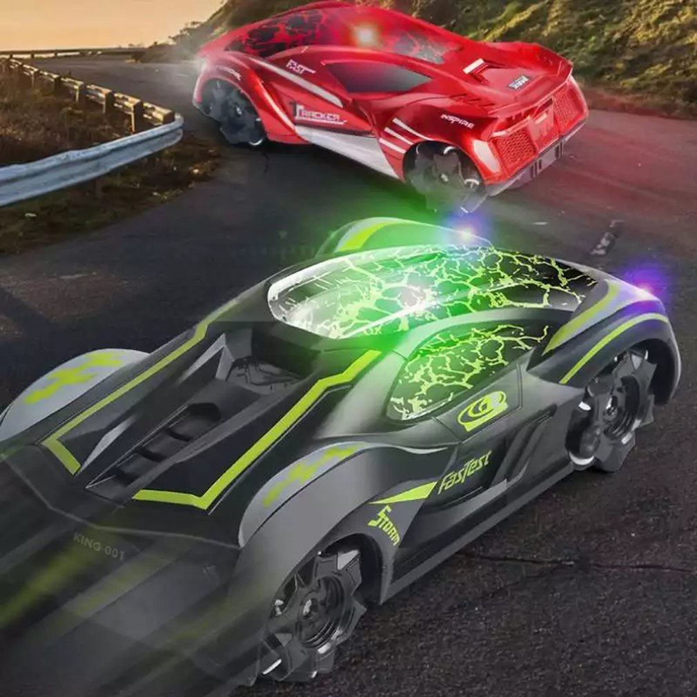 2.4G Crack Remote Control Min Drifting RC Car Stunt Multi-directional 360 Rotating Electric Racing Car Model With Lights Toys enlarge