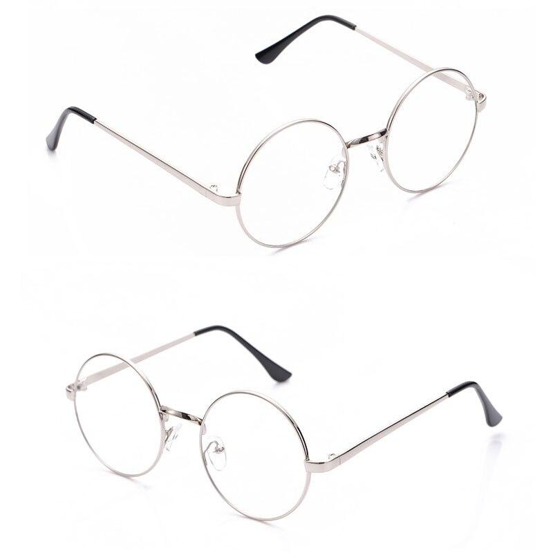 classic half glasses frames optical glasses frames for women men eyeglass eyewear frames unisex glasses frames Retro Vintage Round Transparent Glasses Frames Men Women Fake Glasses Eyeglasses Frames Ladies Eyewear Flat Mirror Spectacle