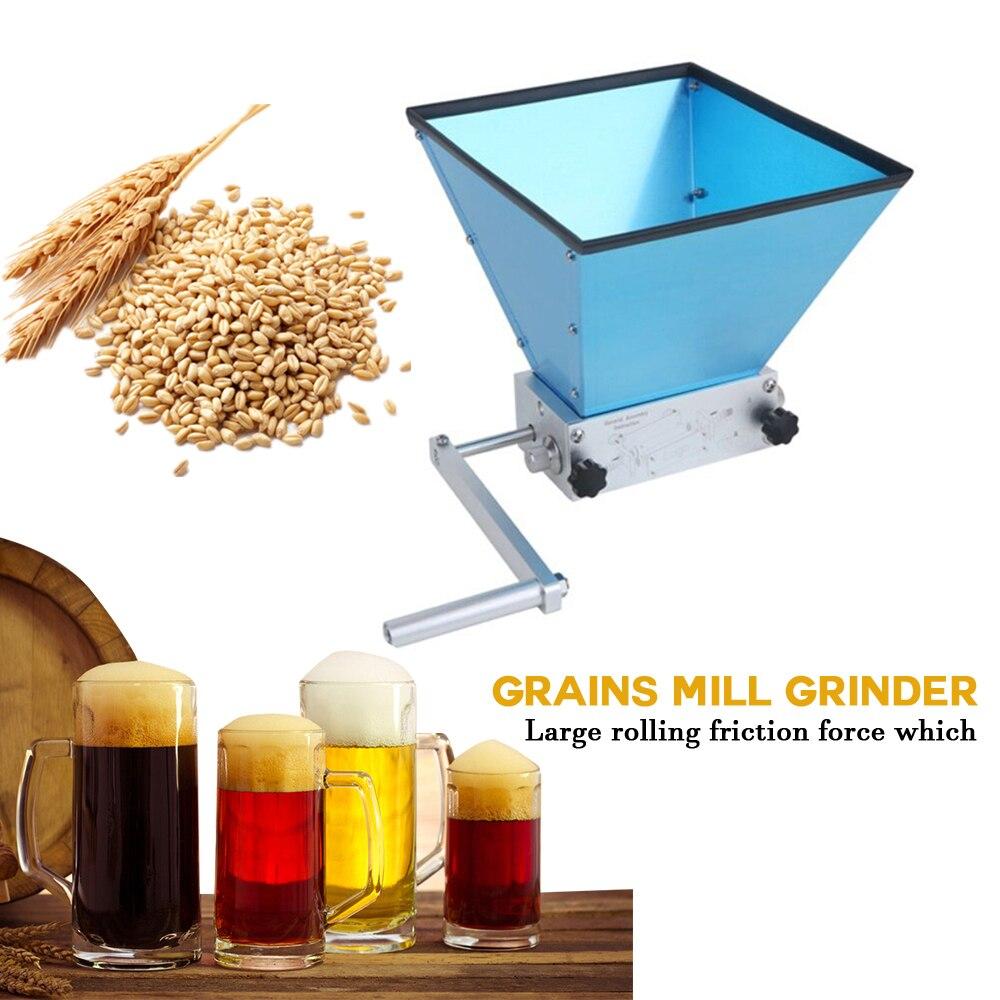 الفولاذ المقاوم للصدأ الحبوب مطحنة معالجات الطعام دليل الشعير الذرة مطحنة حبوب 2 بكرات