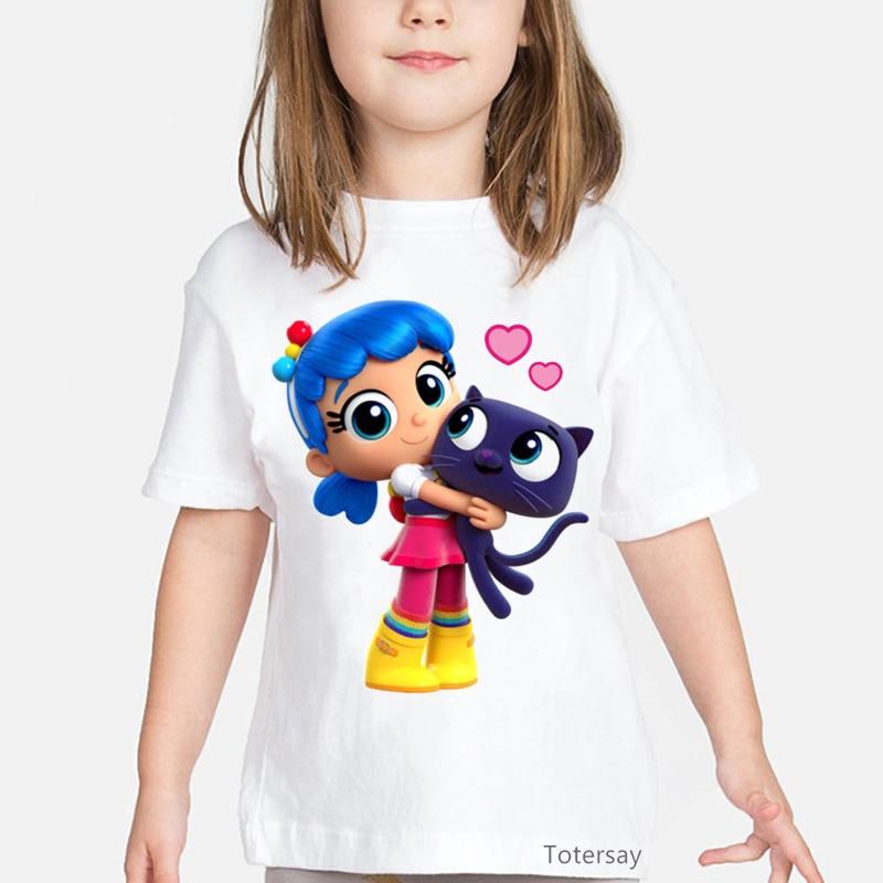 Camiseta con estampado de gato de amor para niña, ropa divertida de...