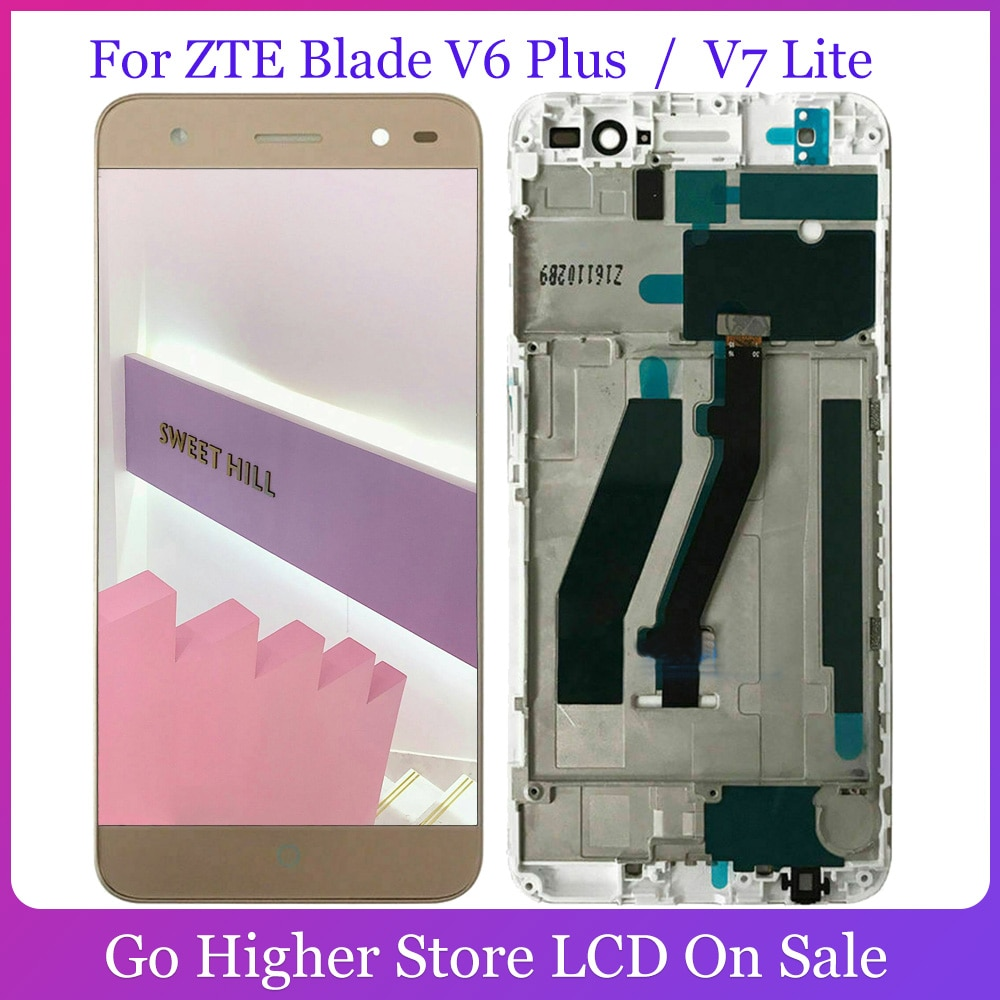 Lcd para ZTE Blade V6 Plus / V7 Lite pantalla LCD + Panel de pantalla táctil de cristal digitalizador Asamblea