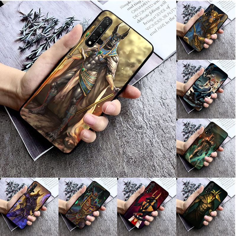 Egypt Anubis TPU Soft Silicone Phone Case Cover for huawei nova 2 2i 2plus 2s 3i 3e 4 4e 5 5i pro case