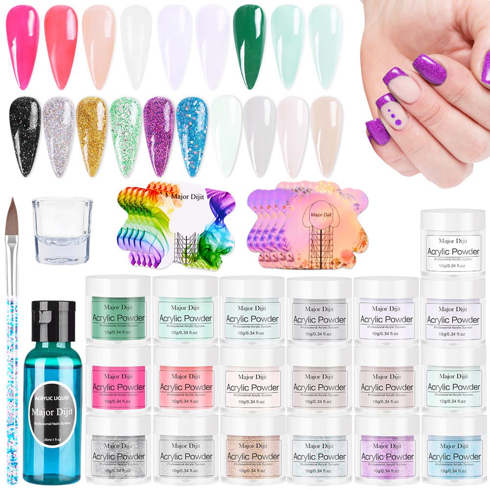 Acrylic Powder Carving Nail Art Gel For Extension Manicure Tools Set Acrylic powder White Clear Adhe