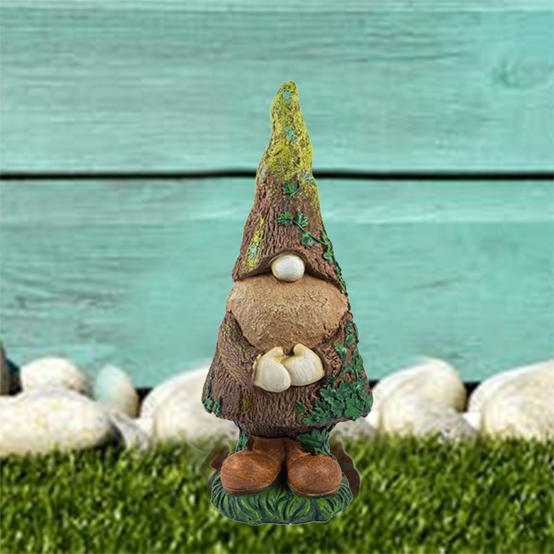 Garden Gnome Statue Large Outdoor Gnome Swedish Tomte Yard Decoration Front Porch Dwarf Elf Figurines Outdoor Ornaments