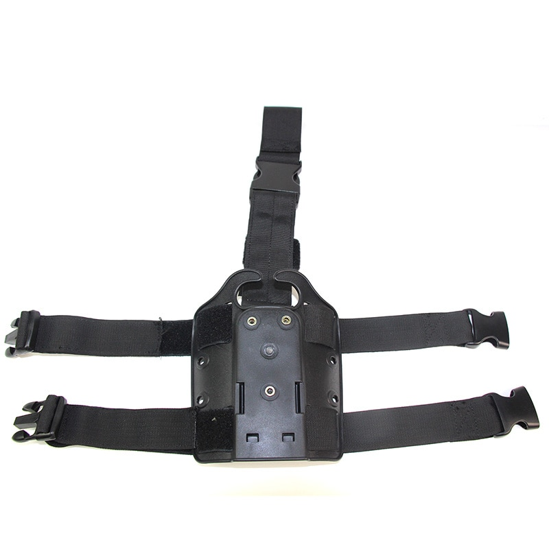 For Safariland Type Leg Platform for Belt Holster 1911 Glock 17 19 M9 USP P226  Pistol Gun Paddle Drop Leg Sand Black