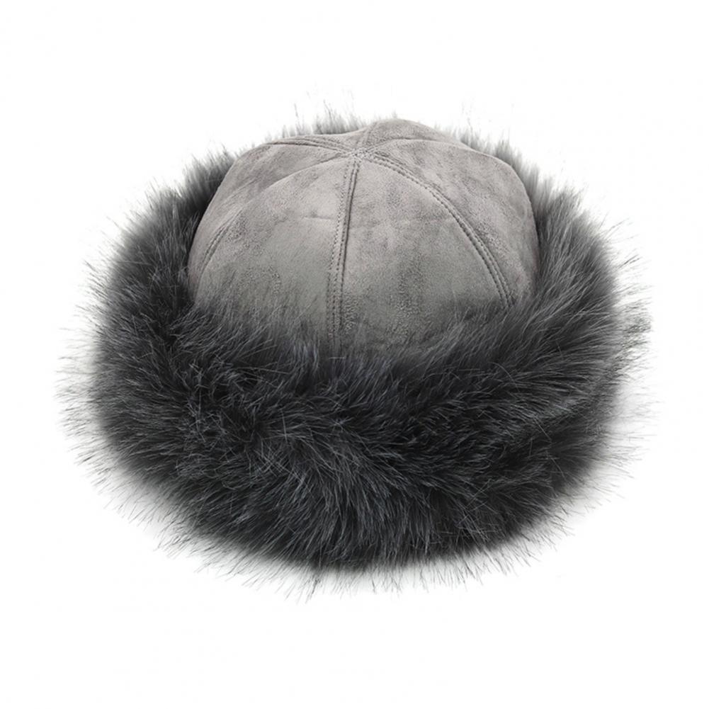 Шапка монгольская Мужская Женская Мужская зимняя из искусственного меха замшевая Пушистая Шапка теплая Толстая шапка зимняя шапка