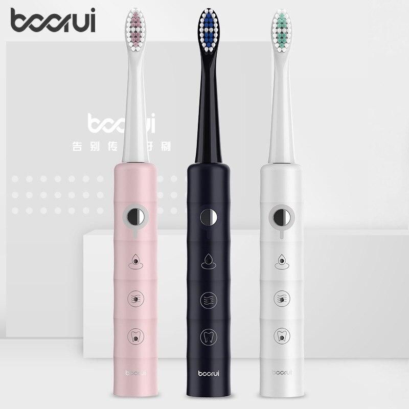Boorui Z2 brosse à dents électrique sonique vibrateur étanche USB Rechargeable brosse à dents adulte blanchiment des dents meilleur cadeau