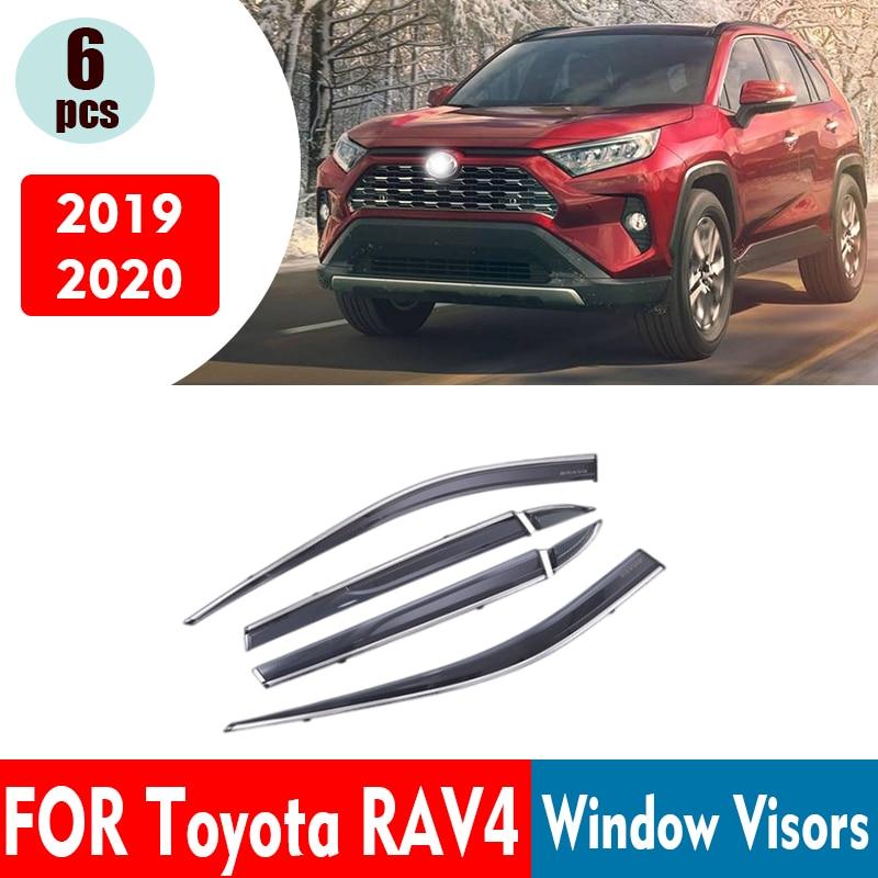 لتويوتا RAV4 XA50 نافذة أقنعة نافذة الشمس واقي من المطر عاكس الدخان 6 قطعة / 1 ste 2019-2021 اكسسوارات السيارات السيارات Styline