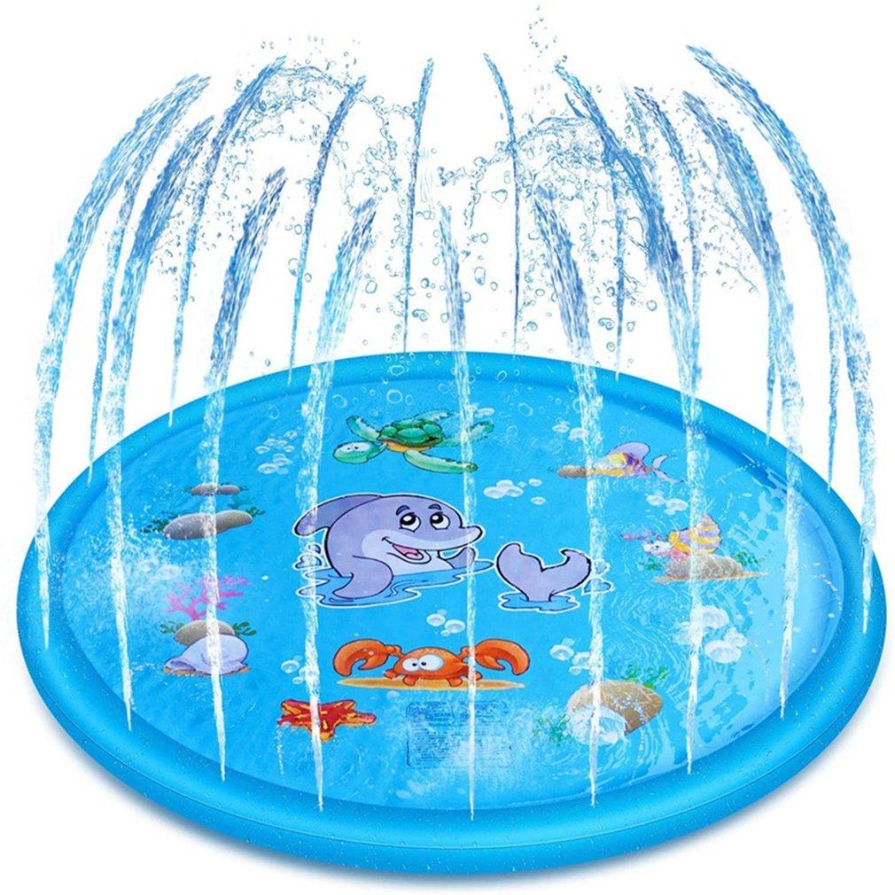 170cm inflável spray água almofada verão crianças jogar tapete de água gramado jogos almofada sprinkler jogar brinquedos piscina ao ar livre