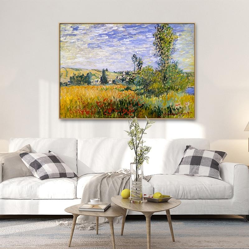 Постеры на холсте с изображением деревенского пейзажа