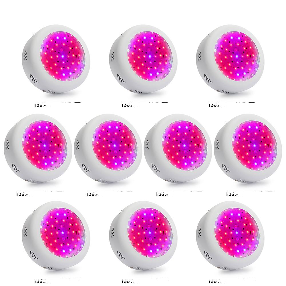 XRYL 10pcs/lot RU DE US AU 150W UFO Full Spectrum 50leds Led Grow Light For Hydroponic Garden Greenhouse Indoor Flower Plants