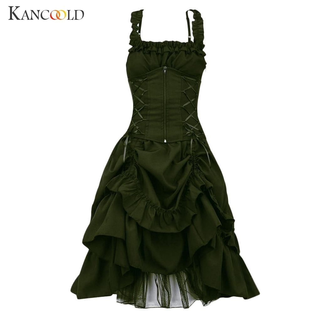 KANCOOLD kleid Womens Reich Gothic Vintage Kleid Steampunk Retro Gericht Prinzessin Ärmellose mode neue kleid frauen 2019Nov27