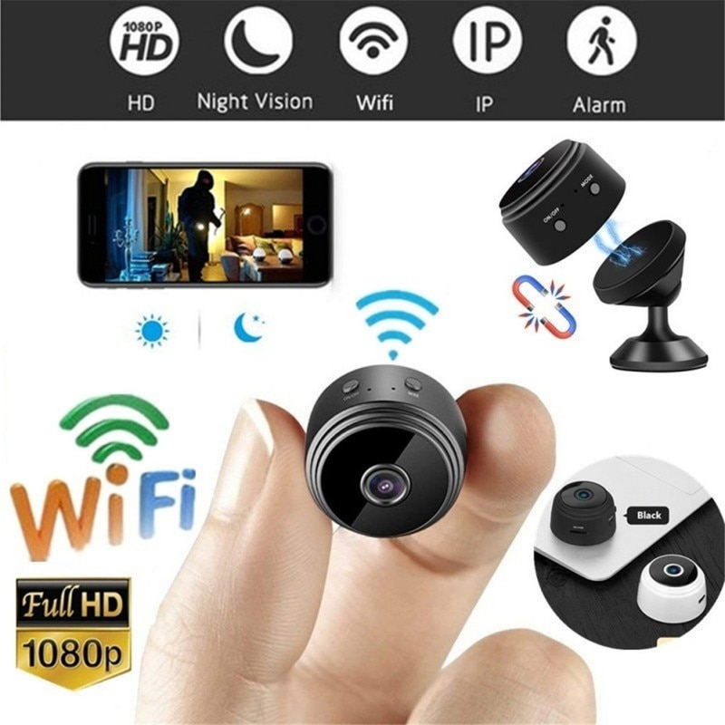 A9 Mini Full-HD 1080P pequeña cámara Wifi IP Mini cámara IR visión nocturna Micro Cámara detección de movimiento Cámara soporte tarjeta TF