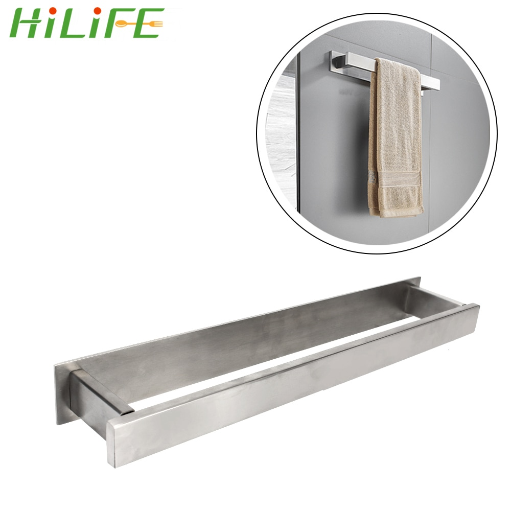 HILIFE منشفة رف الحمام Facecloth الجرف لوازم المطبخ منشفة حامل الحائط الفولاذ المقاوم للصدأ ذاتية اللصق