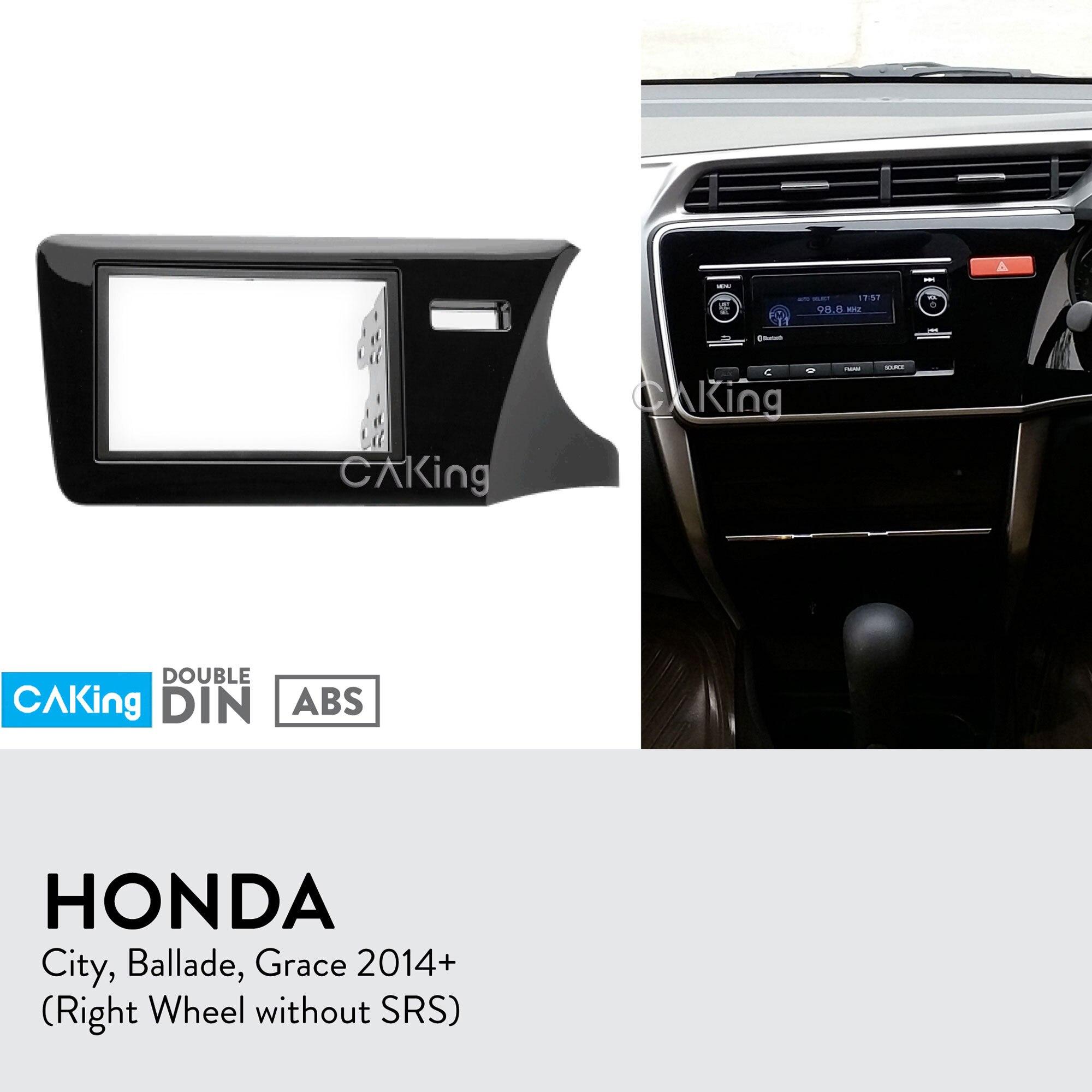 Car Fascia Panel de Radio para Honda Ballade de Grace 2014 + (Derecha/sin SRS) Dash kit para salpicadero placa adaptador Trim