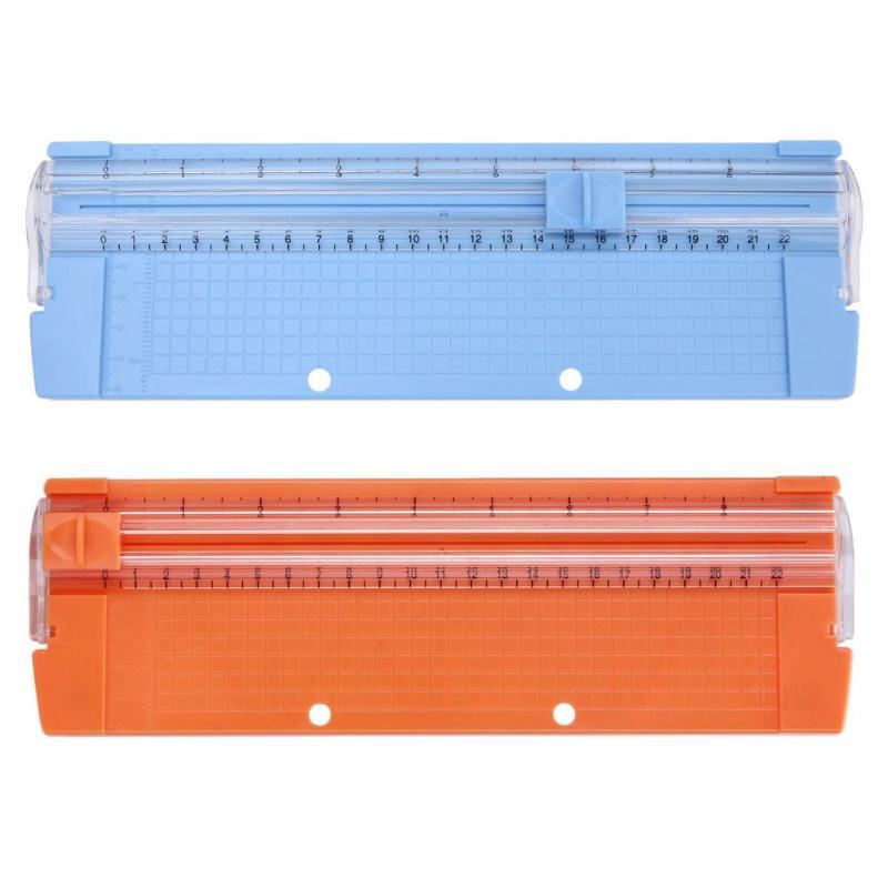 Cortador de fotos de papel de precisión A4/A5 cortadores guillotina con regla de extracción para etiquetas de fotos herramienta de corte de papel