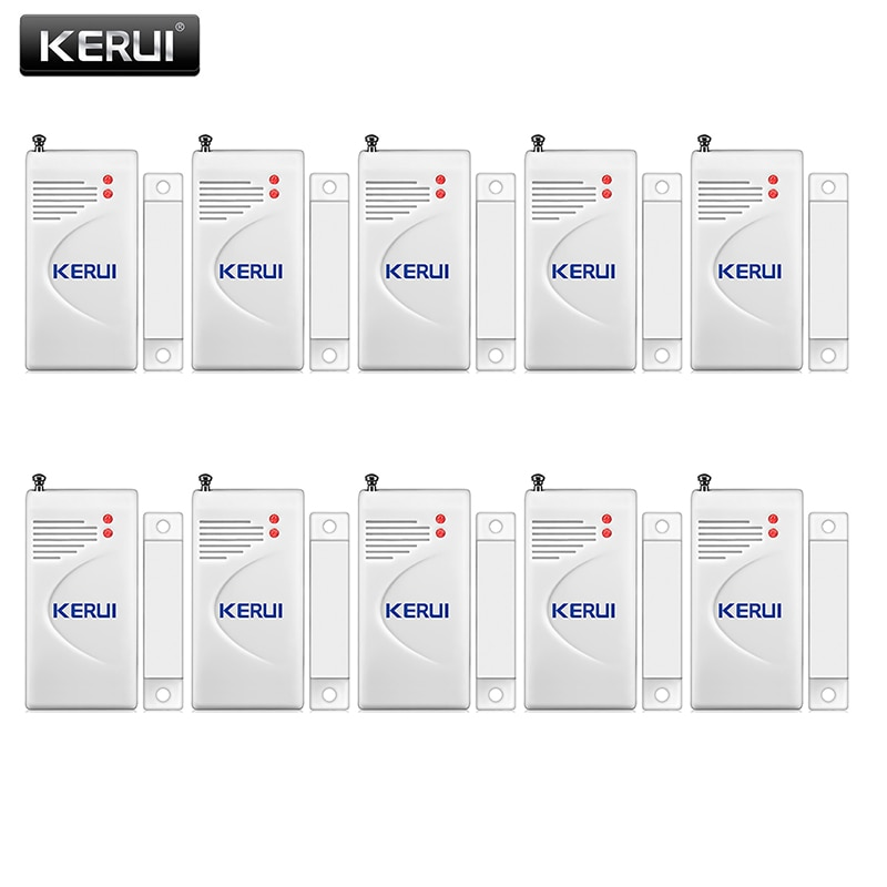 KERUI 3 unids/lote 433mhz Sensor de apertura inalámbrica alarma de Casa seguridad ventana/puerta Sensor gap detector para sistemas de alarma gsm PSTN