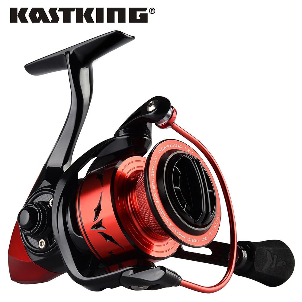 KastKing Speed Demon 7,2: 1 Ratio de engranaje cuerpo de Metal carrete de Spinning 11,34 KG carrete de pesca Max potencia de Arrastre para lubina pesca