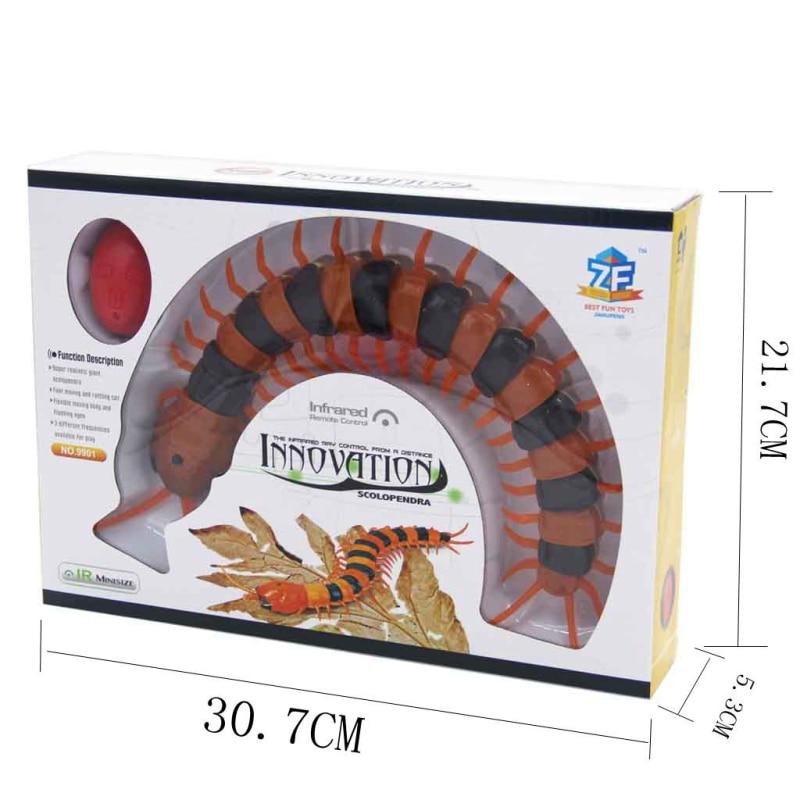 Купить с кэшбэком NEW Infrared RC Remote Control Simulation Centipede Creepy-Crawly Kids Toy Gift Orange&Black